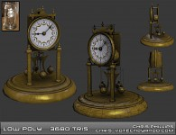 Clock Low Poly w/ Textures - Older work
