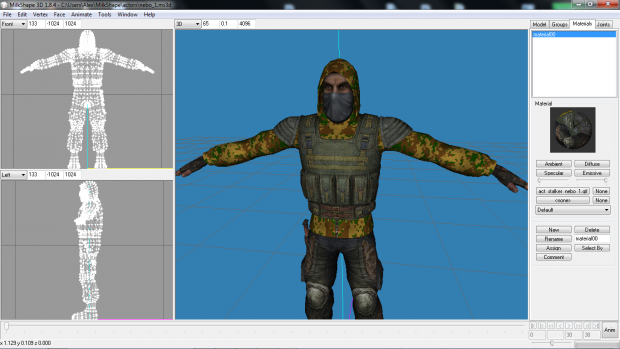 Me attempting to create new NPC textures (WIP)