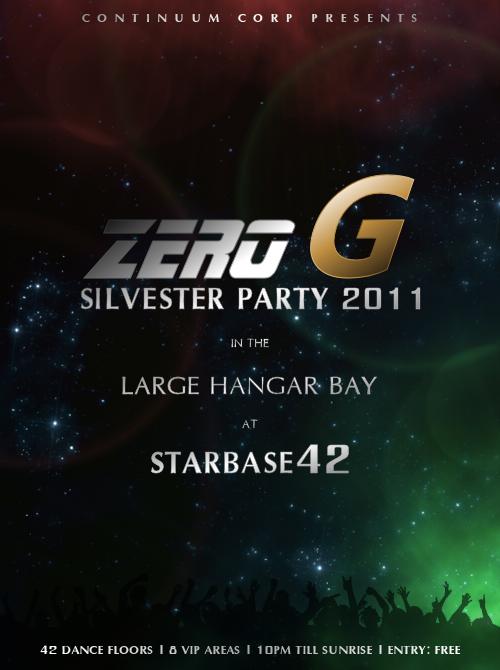 Zero-G Silvester Party!