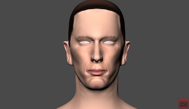 Eminem Head By Senluc