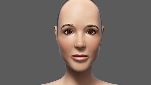 Ellen Page head sculpt wip