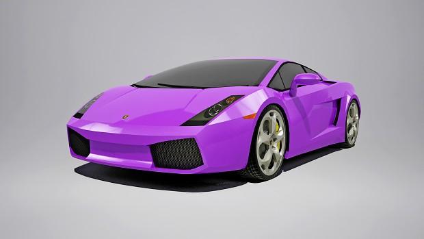 "Lamborghini Gallardo ""Purple"" wallpaper"