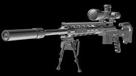 Remington XM2010 High-poly model