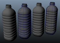 Water Bottle Low Poly Bake