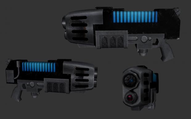 additional Plasma gun texture details