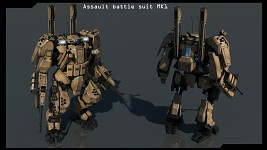 Assault battle suit