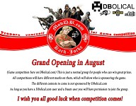 K-J Game Competition / Grand opening in August!