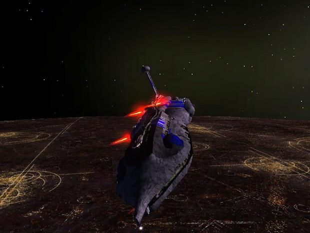 Sepratist Cruiser over Coruscant