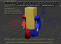 3ds Max Minecraft Human model rigged v0.5