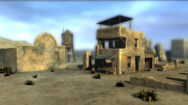 Realistic scene in realtime 3D