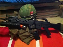 G&P M16A1 w/ M203 and my Vietnam gear