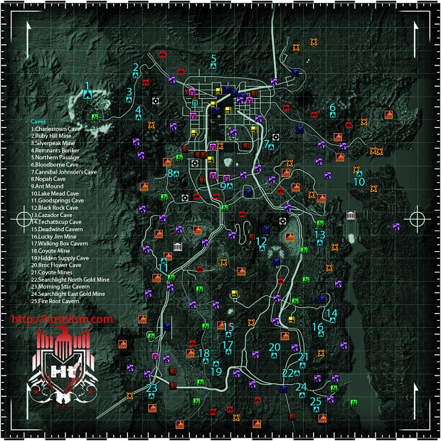 fallout new vegas locations