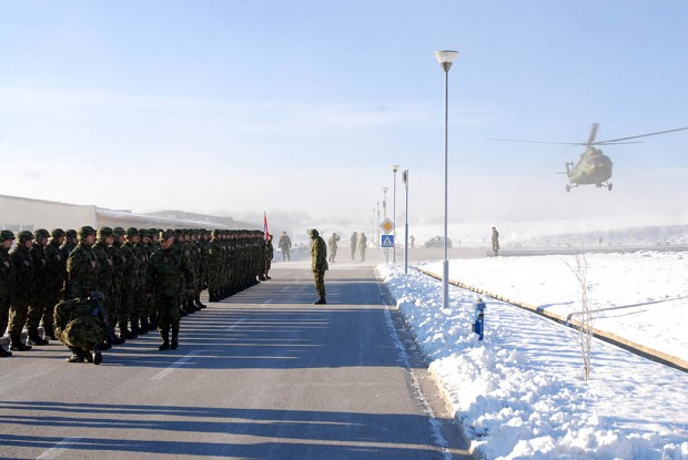 Serbian Base (Reception of Minister of Defence)