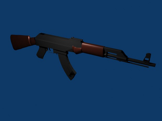 AK-47 Render Colored