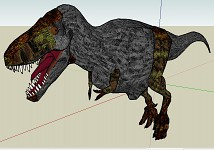 Trex of Jurassic Park isla nublar