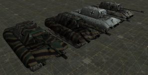 E-100 HD textures (grey and camo)