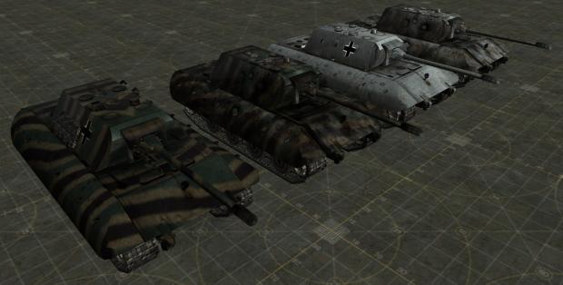 E-100 HD textures (grey and camo)