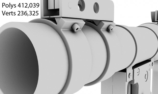 RPG Rocket Launcher Ambient Occlusion