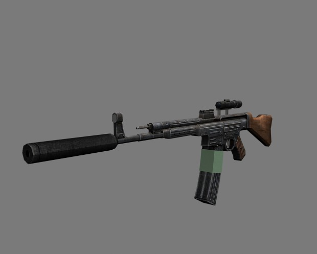 StG 44 scope + suppressor
