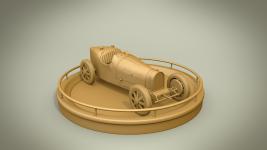 Bugatti clay render