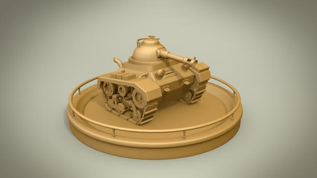 Tank clay render
