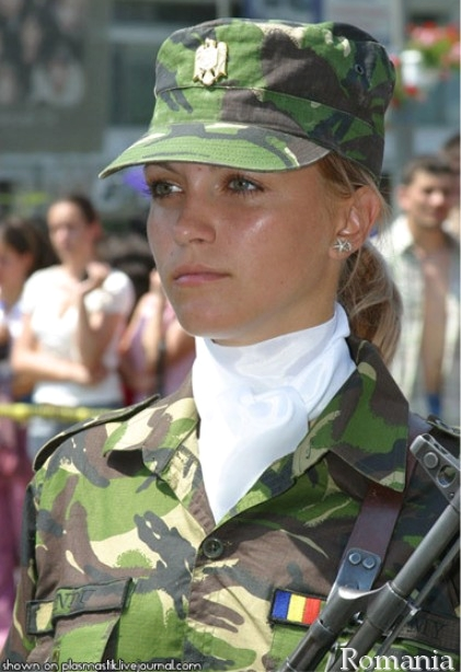 Some romanian army girls