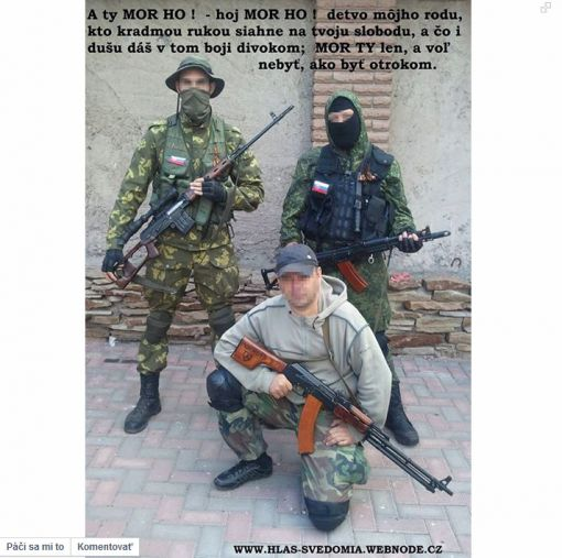 Slovak volunteer fighers in Donbass militia