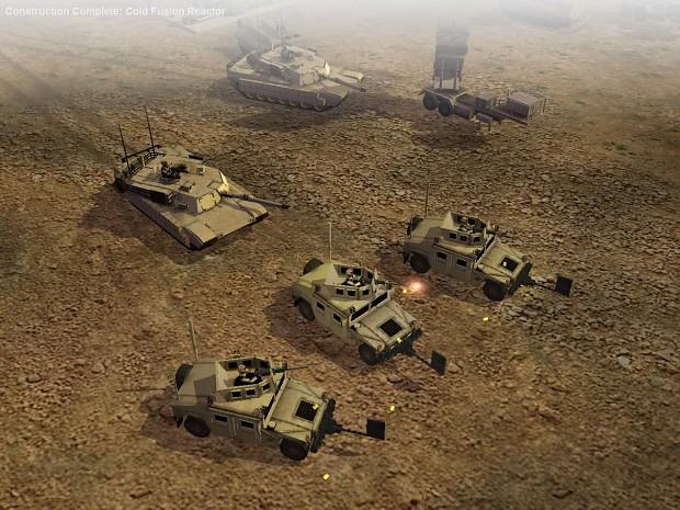 my m1114 hmmvee in my mod of generals zerohour