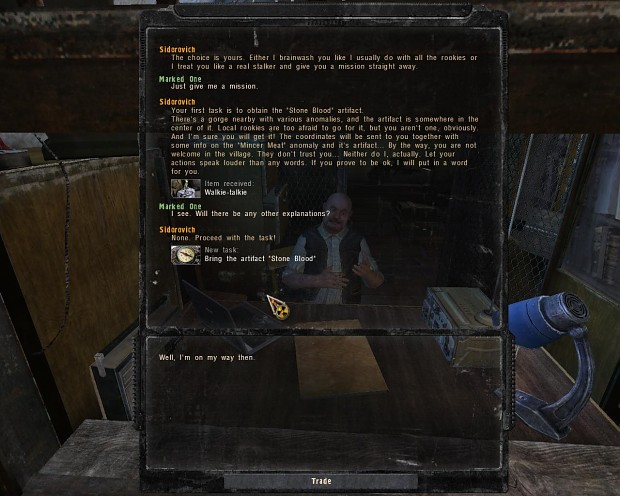 Dialogue screen for COP HUD
