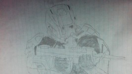 Halo Reach Spartan III w/GUNGNIR helmet and DMR
