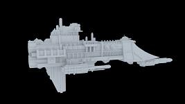 Firestorm Frigate model WIP