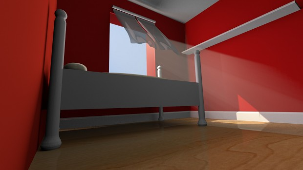 A red bedroom, nuff said