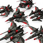 3D Space Dark Fighters