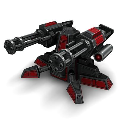 3D Ground Mini Gun