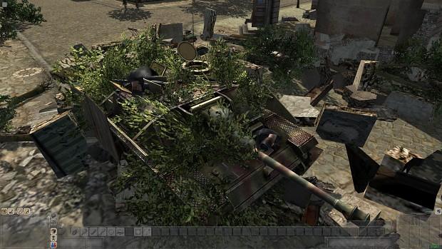 Destroyed SS-Tanks