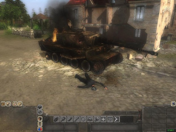Destroyed Tiger Tank
