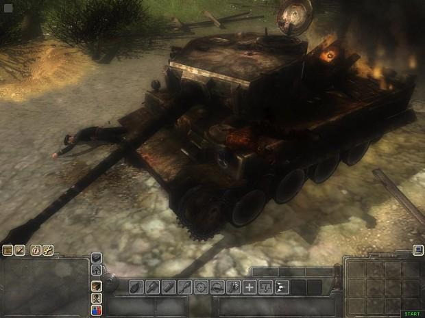 Destroyed Tiger Tank