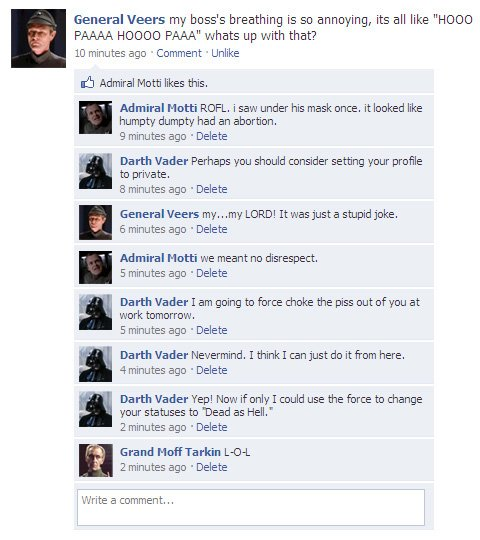 Facebook Star wars haaaaaaaaaaaaa