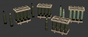 M109A6 155mm Shell Pallets
