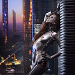 Mind-blowing transhumanism themed concept art :)