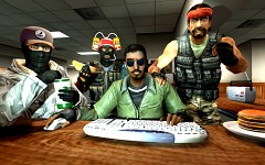 Terrorists playing Counter-Strike.