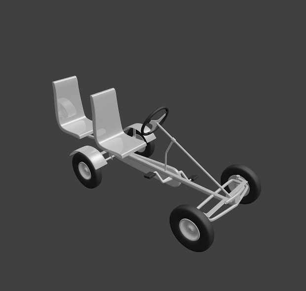 A Go-Cart made in kHED and Blender