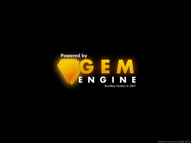 GEM editor initialization screen