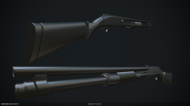 Mossberg 590 High-Poly