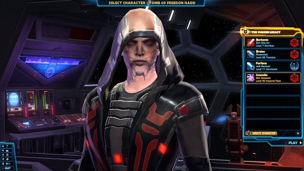swtor characters