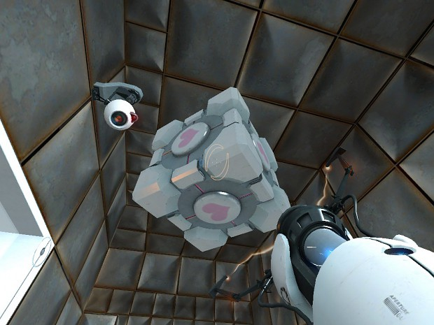 """me and my companion cube forever!"""