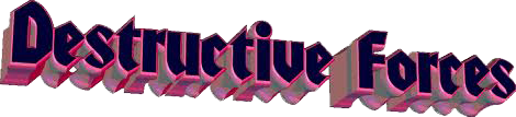 Destructive forces logo PNG