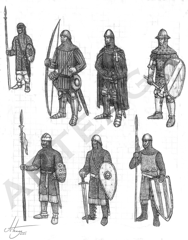 Medieval Warriors designs