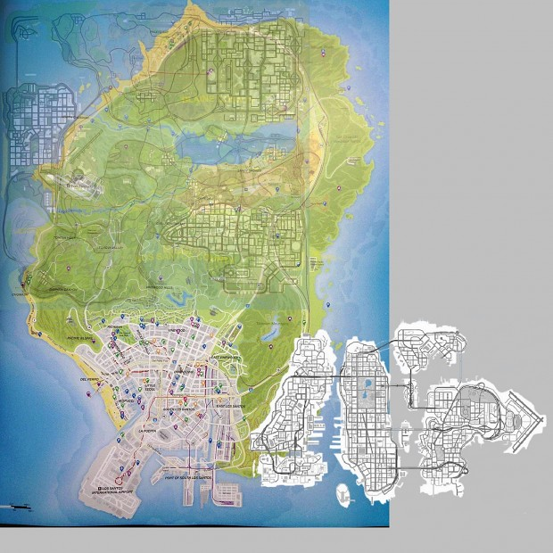 GTA V map compare