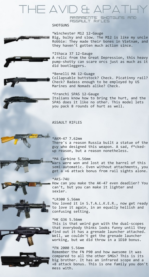 aa guns rifles